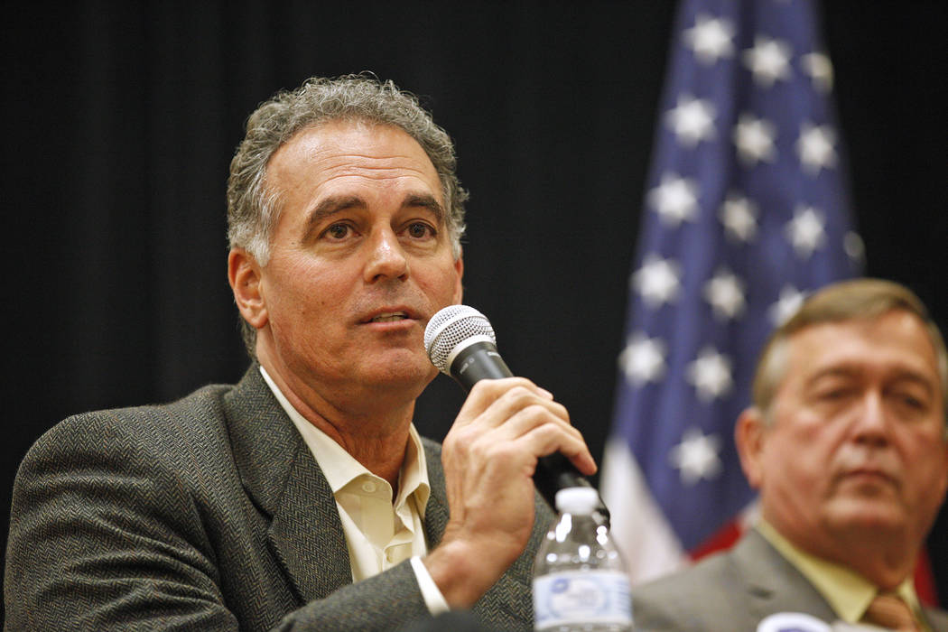 Danny Tarkanian, a Republican candidate for the 3rd Congressional District, speaks at Education Matters, a forum to discuss K-12 issues and school choice, at the East Las Vegas Community Center in ...