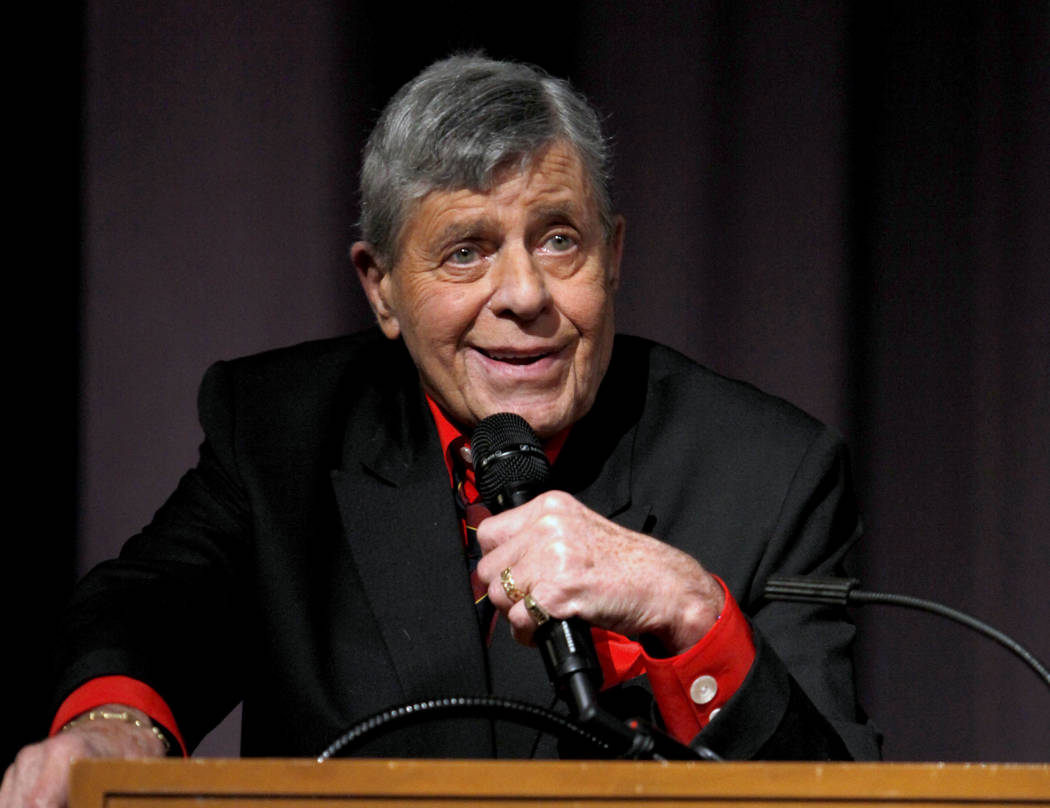 "In this Dec. 7, 2011 file photo released by Starz shows comedian Jerry Lewis speaking at the Encore Original premiere of ""Method to the Madness of Jerry Lewis"" in Los Angeles. (AP Photo/Starz, Joe ..."