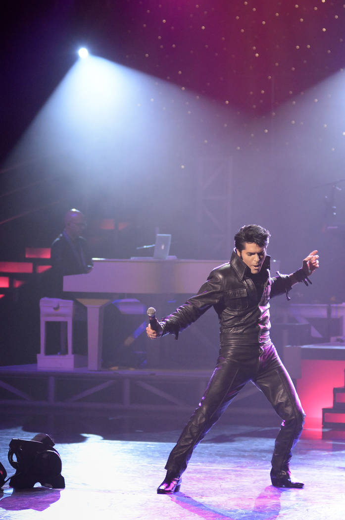 "Dean Zeligman performs as Elvis Presley during ""Legends in Concert"" at The Flamingo on Thursday, July 9, 2015, in Las Vegas. (Bill Hughes/Las Vegas Review-Journal)"