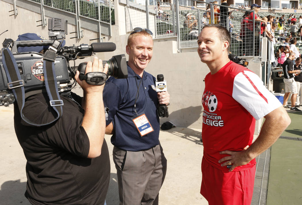 Eric Wynalda attends the LAFEST LA Film and Entertainment Soccer Tournament, on Sunday, March 24, 2013 in Carson, California. (Photo by Todd Williamson/Invision for THR/AP Images)