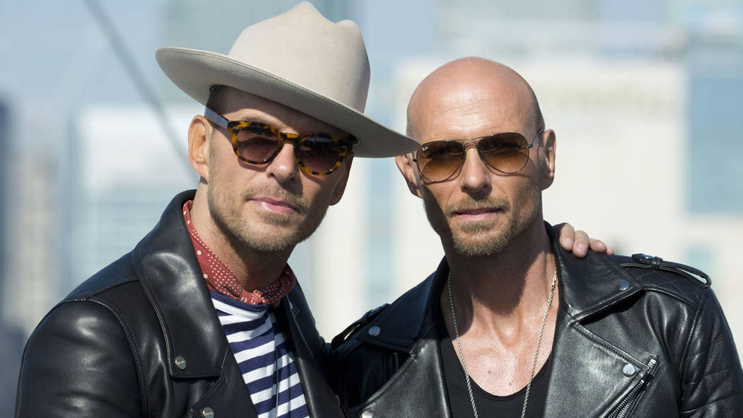 Matt and Luke Goss are shown at the O2 Arena in July 2017. (MattGossla.com)