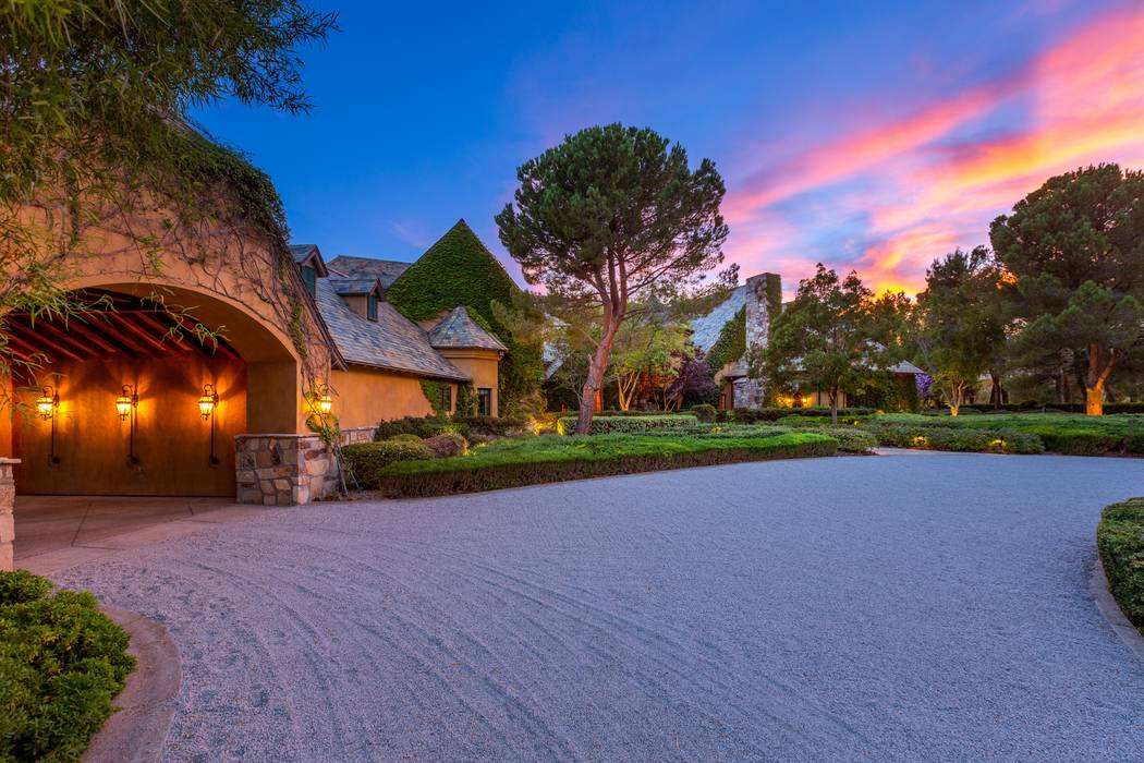 This home at 1641 Enclave Court in Las Vegas is listed for $16.5 million. (The Ivan Sher Group-Berkshire Hathaway HomeServices Nevada Properties)
