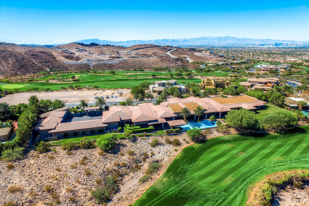 An $11.5 million listing at 1198 MacDonald Ranch Drive on Wednesday, Oct. 17, 2018, in Henderson. Provided Las Vegas Review-Journal