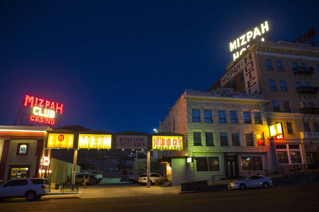 The Mizpah Club and Mizpah Hotel in Tonopah on Thursday, Oct. 11, 2018. Chase Stevens Las Vegas Review-Journal @csstevensphoto