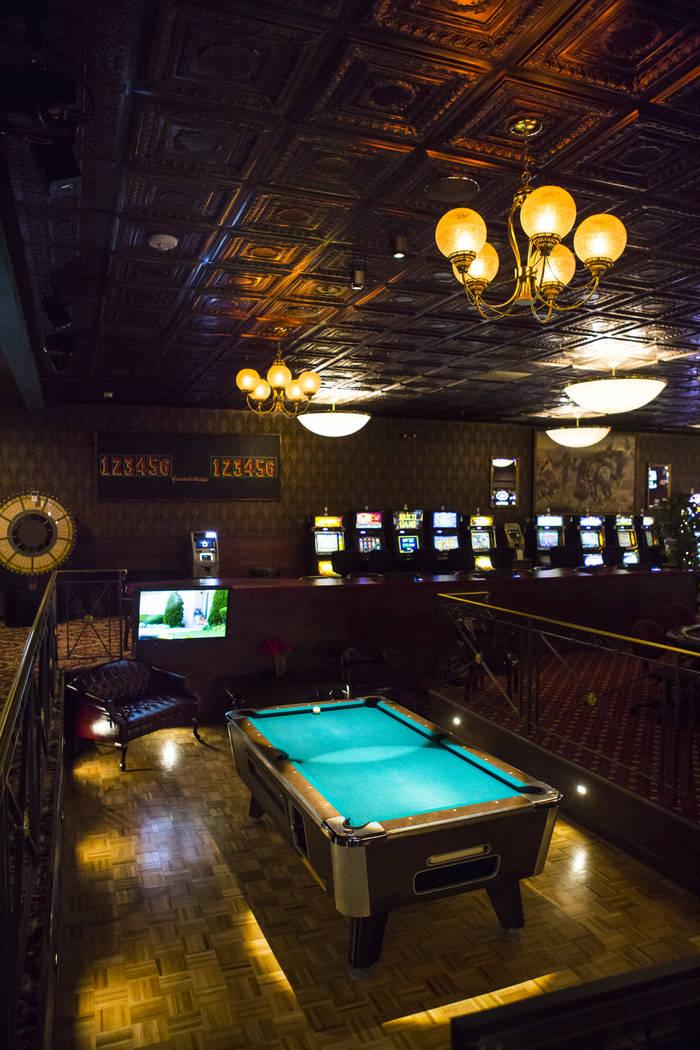 A pool table at the Mizpah Club in Tonopah on Thursday, Oct. 11, 2018. Chase Stevens Las Vegas Review-Journal @csstevensphoto