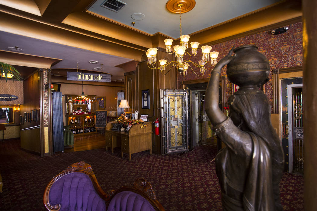 A view of the Mizpah Hotel lobby in Tonopah on Friday, Oct. 12, 2018. Chase Stevens Las Vegas Review-Journal @csstevensphoto