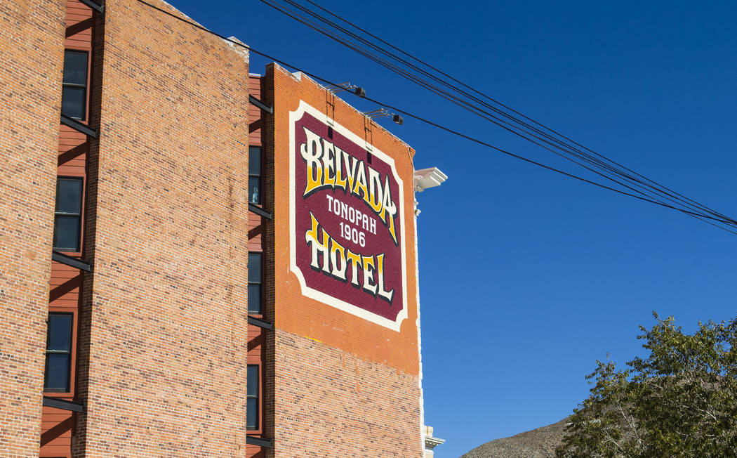 The Belvada in Tonopah on Friday, Oct. 12, 2018. The Belvada originally opened as the State Bank and Trust Company Building in 1906. Chase Stevens Las Vegas Review-Journal @csstevensphoto