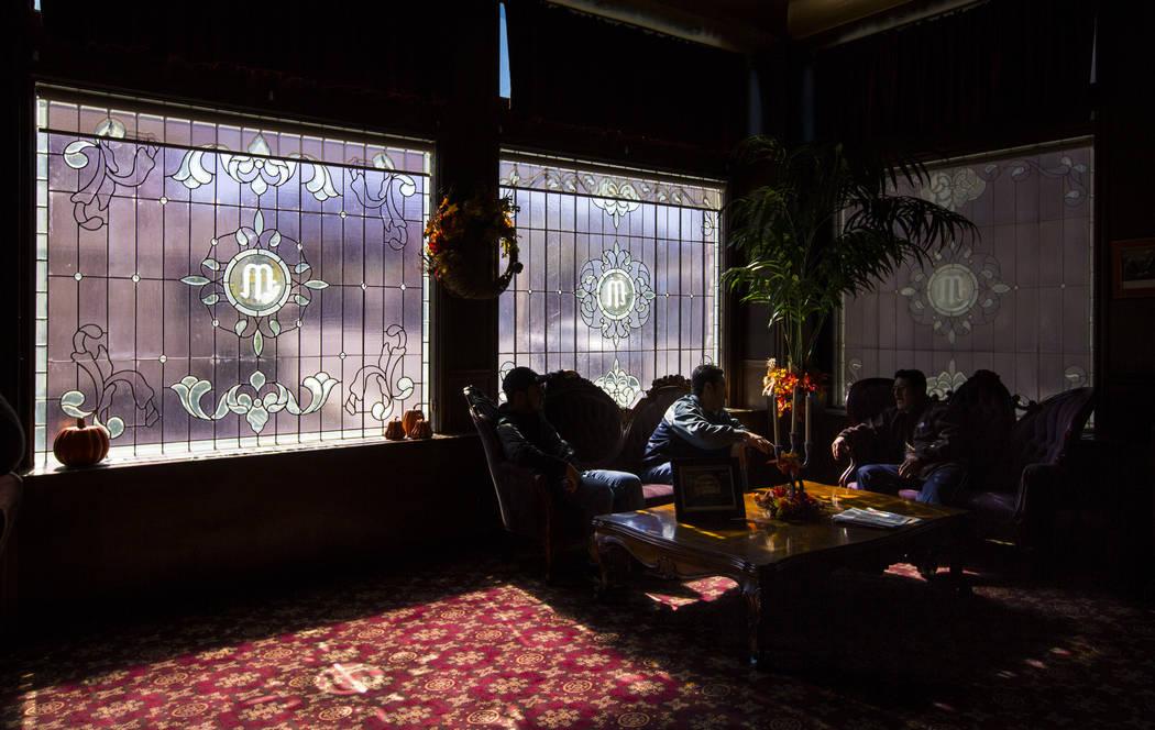 Visitors relax at the Mizpah Hotel in Tonopah on Friday, Oct. 12, 2018. Chase Stevens Las Vegas Review-Journal @csstevensphoto