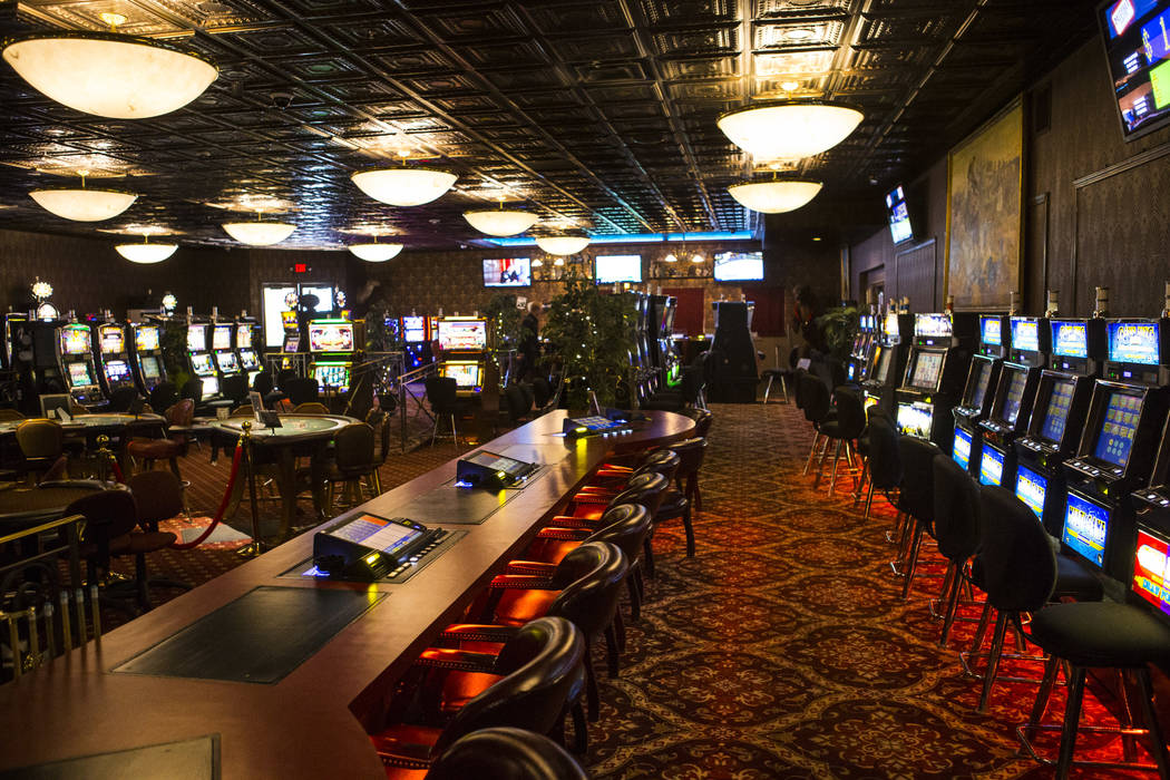 A view of the casino floor at the Mizpah Club in Tonopah on Friday, Oct. 12, 2018. Chase Stevens Las Vegas Review-Journal @csstevensphoto