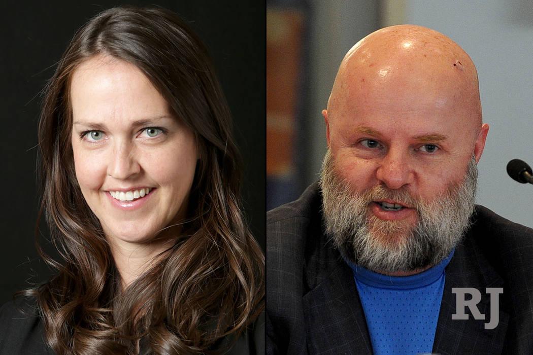 Elana Lee Graham, left, and James Dean Leavitt, right. (Las Vegas Review-Journal)