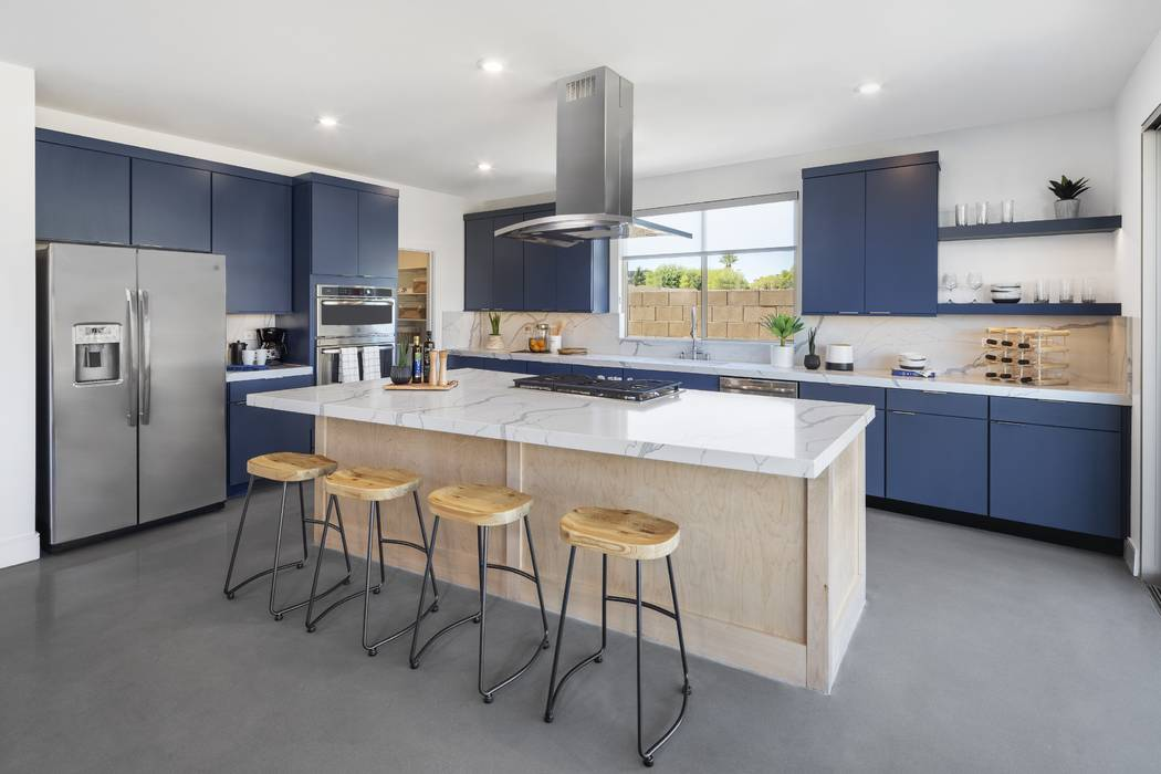 Pardee Homes' Corterra neighborhood is off Horizon Ridge Parkway, east of Valle Verde Drive in Henderson and features two new, modern plans. Shown is the Plan One kitchen by celebrity designer B ...
