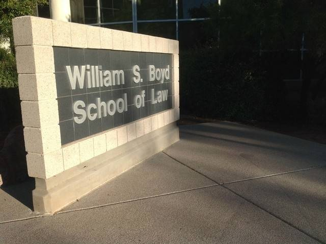 The William S. Boyd Law School opened in 1998, carrying the name of the gaming executive and lawyer after his $5 million donation. (Greg Haas/Las Vegas Review-Journal)