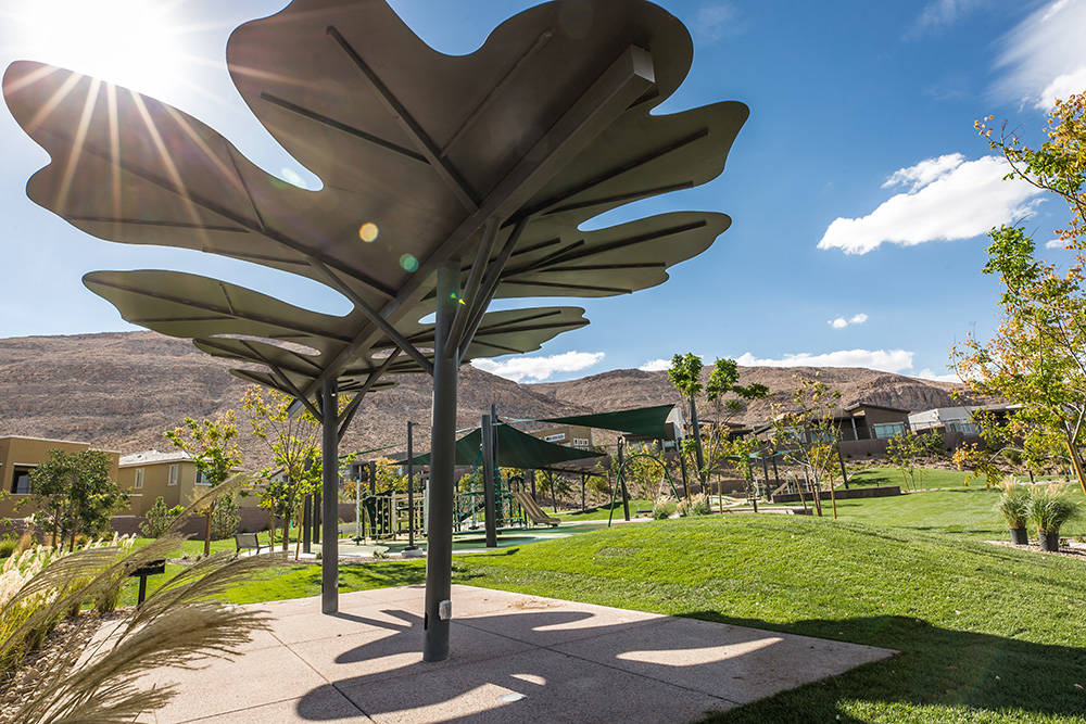 Summerlin is home to nearly 250 parks of all sizes and types. The newest park to join the line-up is Oak Leaf Park in The Cliffs village. (Summerlin)