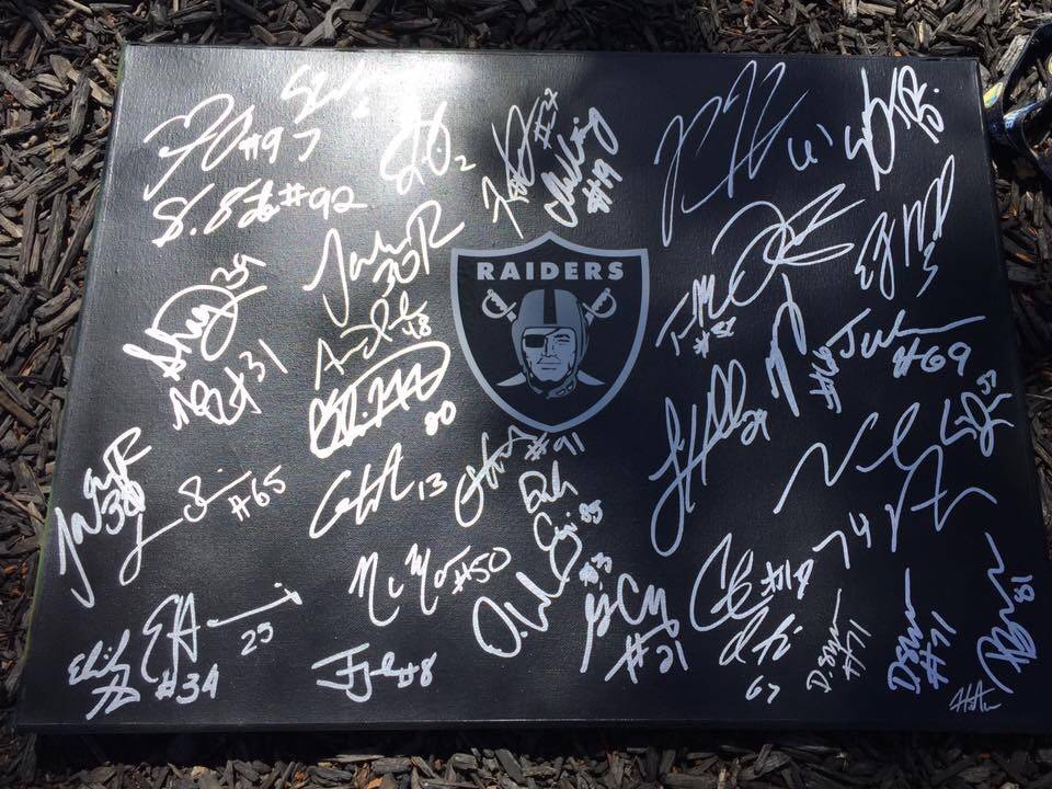 Raiders fan Hein Tu estimates he has collected more than 1,000 autographs in the past three years, many of which are on display at his home in San Lorenzo, California. (Michael Gehlken/Las Vegas R ...