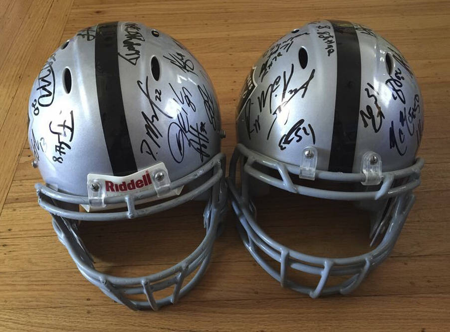 Raiders fan Hein Tu estimates he has collected more than 1,000 autographs in the past three years, many of which are on display at his home in San Lorenzo, California.
