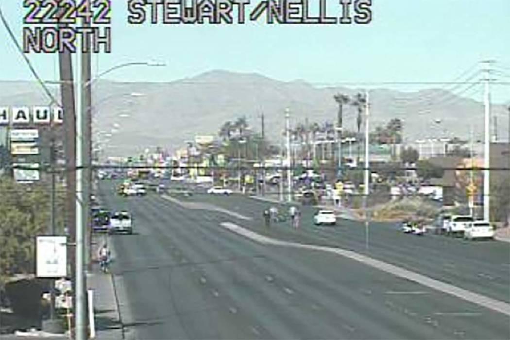 Nellis Boulevard and Stewart Avenue in east Las Vegas. (RTC Cameras)