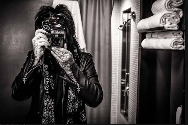 Nikki Sixx Musician Nikki Sixx shoots a selfie.