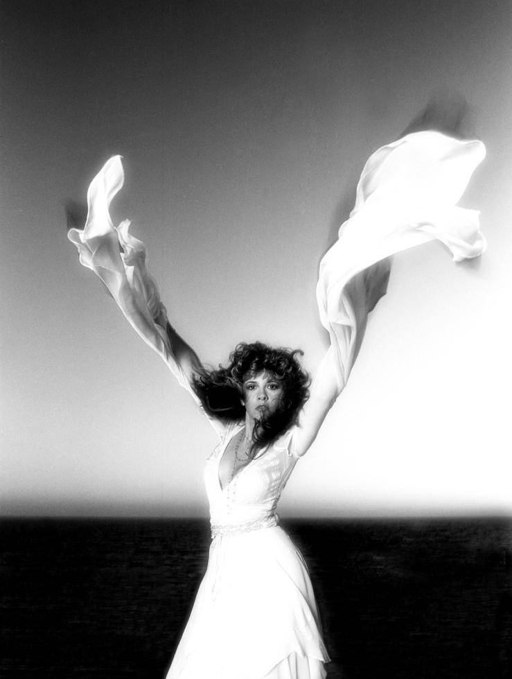 Neal Preston Stevie Nicks performs on a windy day in Venice Beach, California, in 1981.