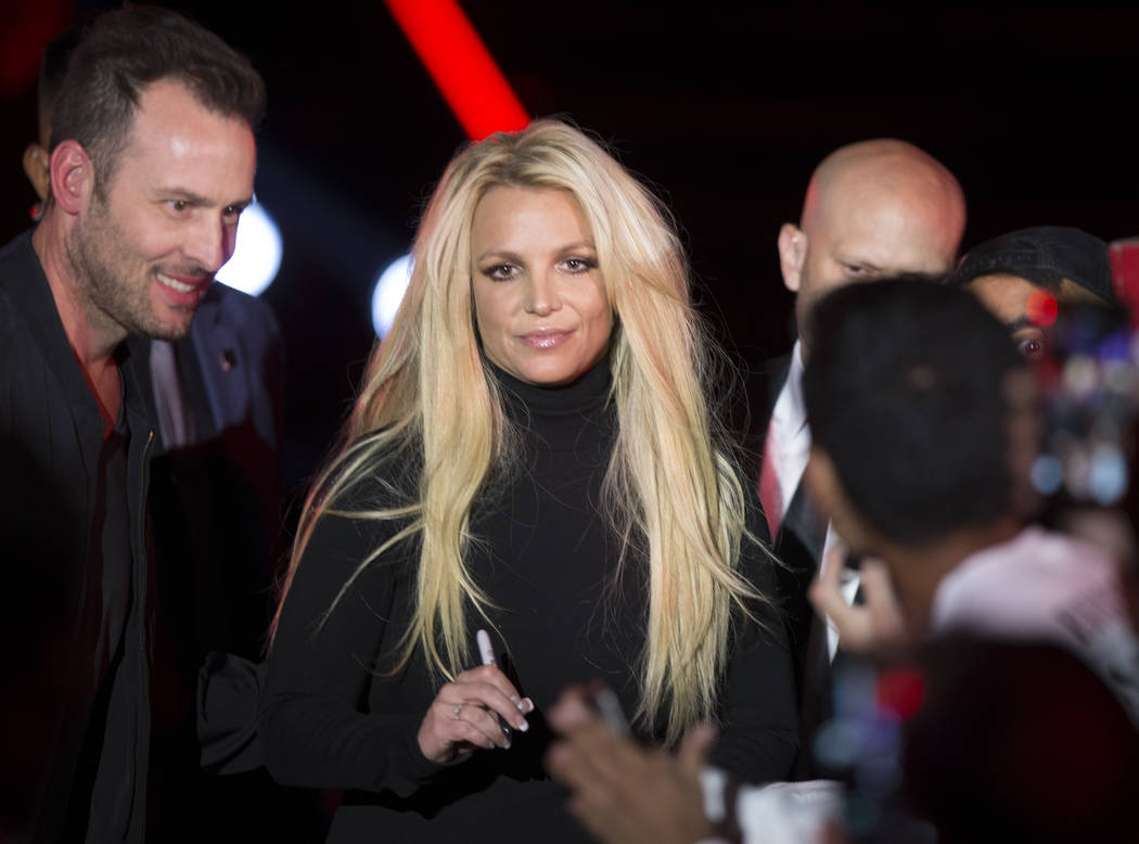 Britney Spears during an event to announce her new residency at The Park Theater at Park MGM on Thursday, Oct. 18, 2018, outside T-Mobile Arena, in Las Vegas. Provided Las Vegas Review-Journal