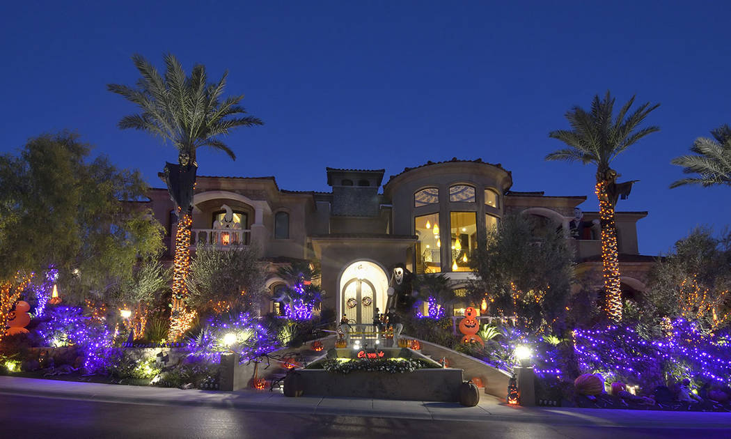 Halloween decorations are shown at Lauren Browne Sugars' home at the Red Rock Country Club. (Bill Hughes Real Estate Millions)