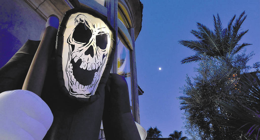 Halloween decorations are shown at the Sugars home at the Red Rock Country Club in Las Vegas on Wednesday, Oct. 17, 2018. Bill Hughes/Real Estate Millions