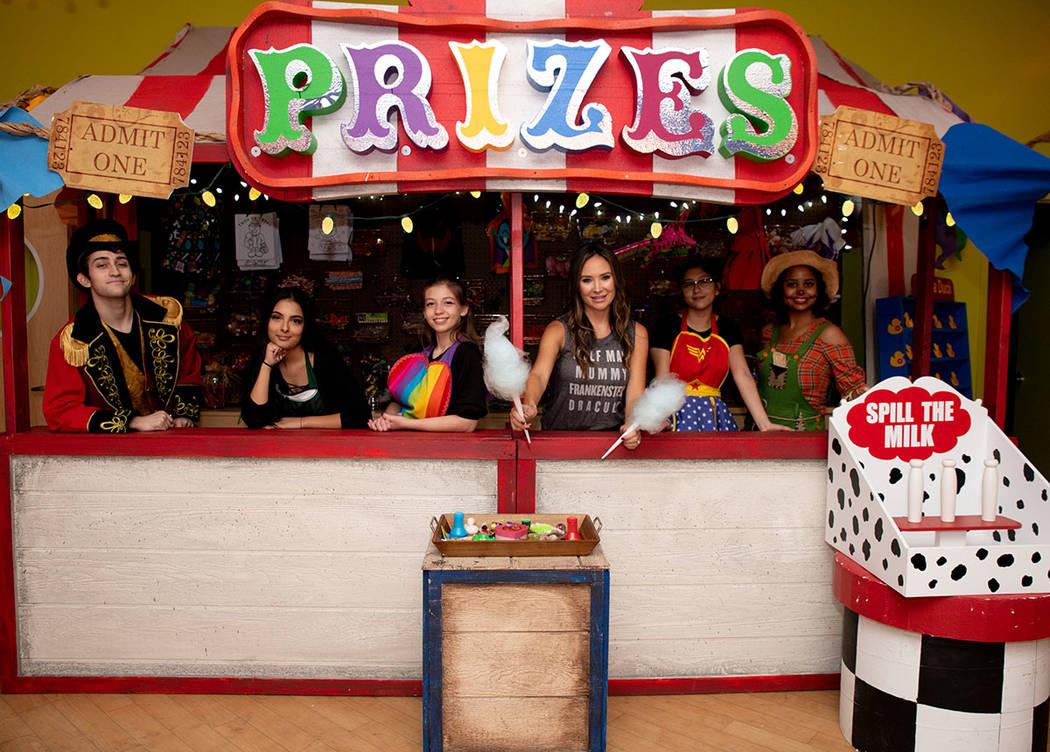 From left, William Cutler, Noemi Casillas, Morgan Rooney, Nicole Tomlinson, Irene Chavira and Gabriella De Leon at Operation Halloween. (Tonya Harvey Real Estate Millions)