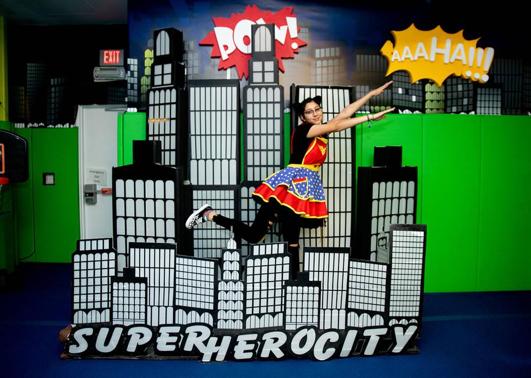 Irene Chavira is in the superhero portion of Operation Halloween. (Tonya Harvey Real Estate Millions)