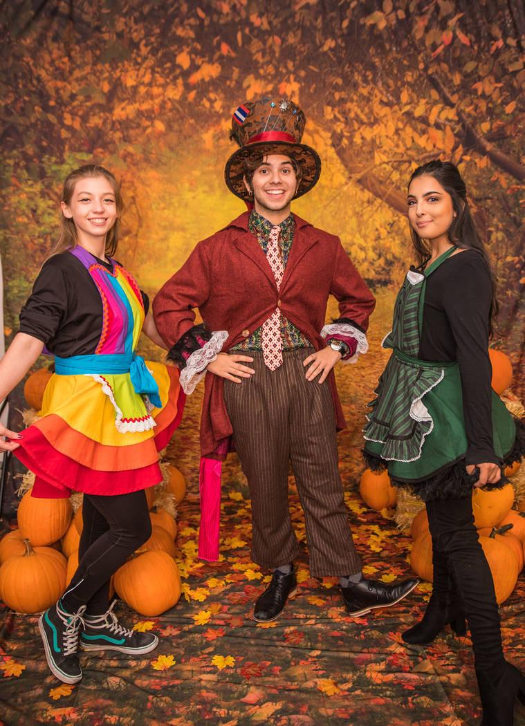 Morgan Rooney, David Tovar and Noemi Casillas at Operation Halloween. (Tonya Harvey Real Estate Millions)