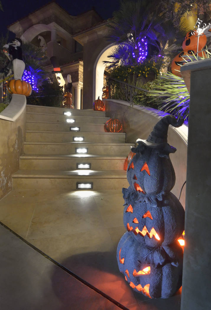 Several luxury homeowners, such as Lauren Browne Sugars, do Halloween up big. (Bill Hughes Real Estate Millions)