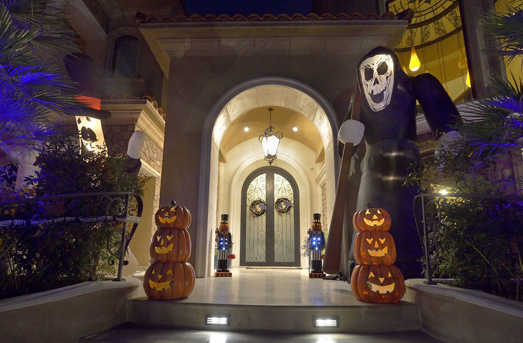 Lauren Browne Sugars and her family have decked out their home in Red Rock Country Club for Halloween. (Bill Hughes Real Estate Millions)