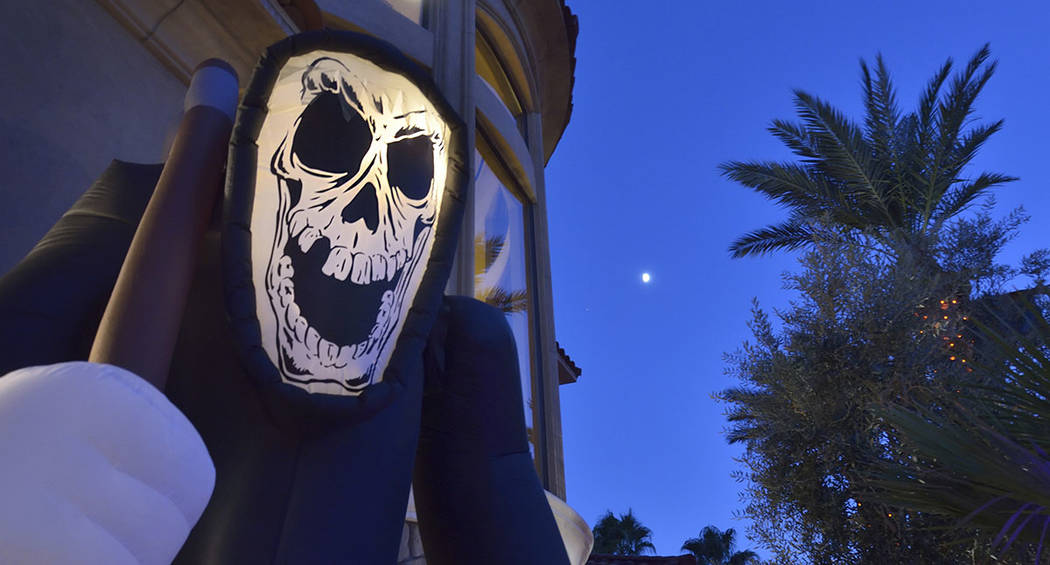 This luxury home in Red Rock Country Club is ready for Halloween visitors. (Bill Hughes Real Estate Millions)