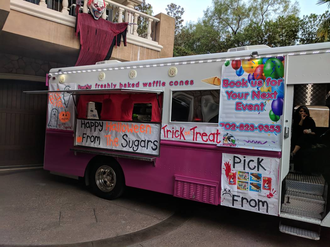Last year, Lauren Browne Sugars and her family gave out 2,200 ice cream bars from this truck on Halloween at their neighborhood party in Red Rock Country Club. (Courtesy)