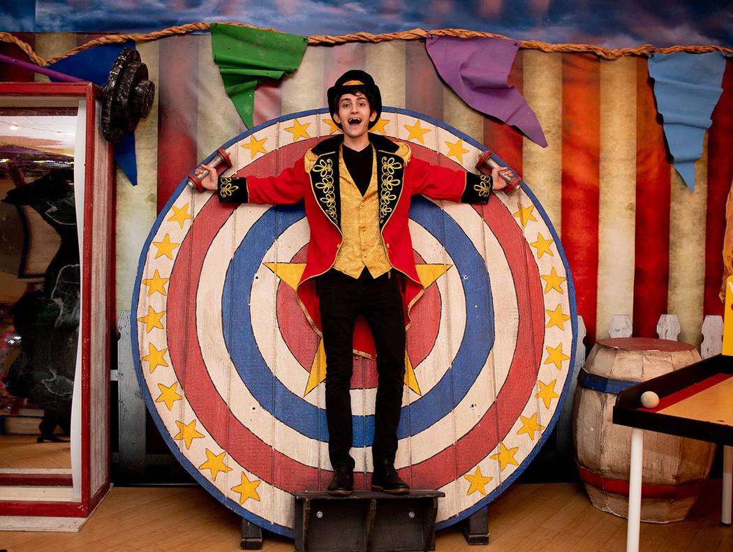 William Cutler performs at Operation Halloween held at Tivoli Village in Summerlin. (Tonya Harvey Real Estate Millions)