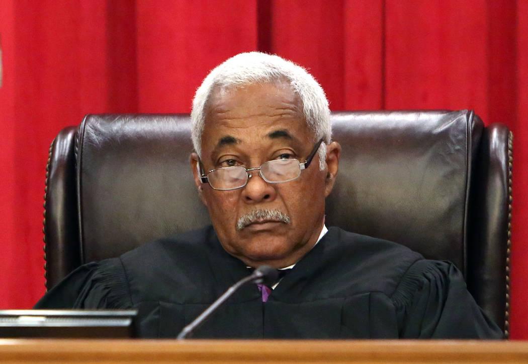 Nevada Supreme Court Justice Michael Douglas. (Bizuayehu Tesfaye/Las Vegas Review-Journal) @bizutesfaye