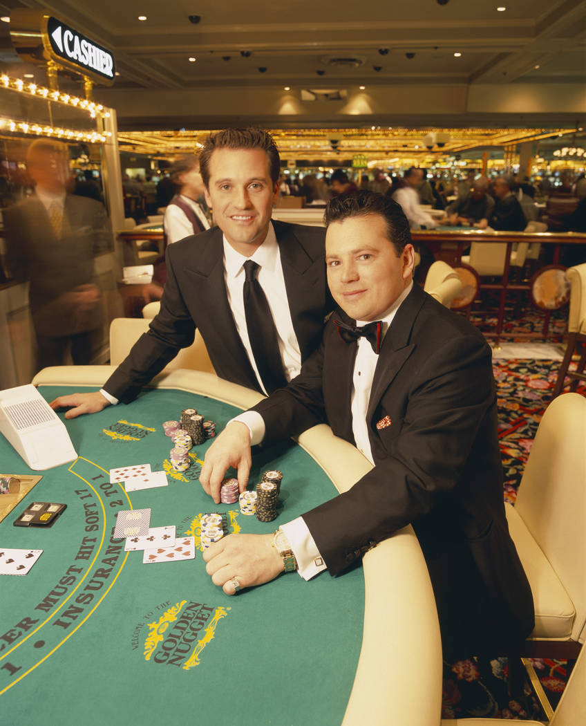 "Tom Breitling, left, and Tim Poster, then owners of the Golden Nugget in downtown Las Vegas, were the focus of the Fox TV series ""The Casino."" (Joe Viles/FOX)"