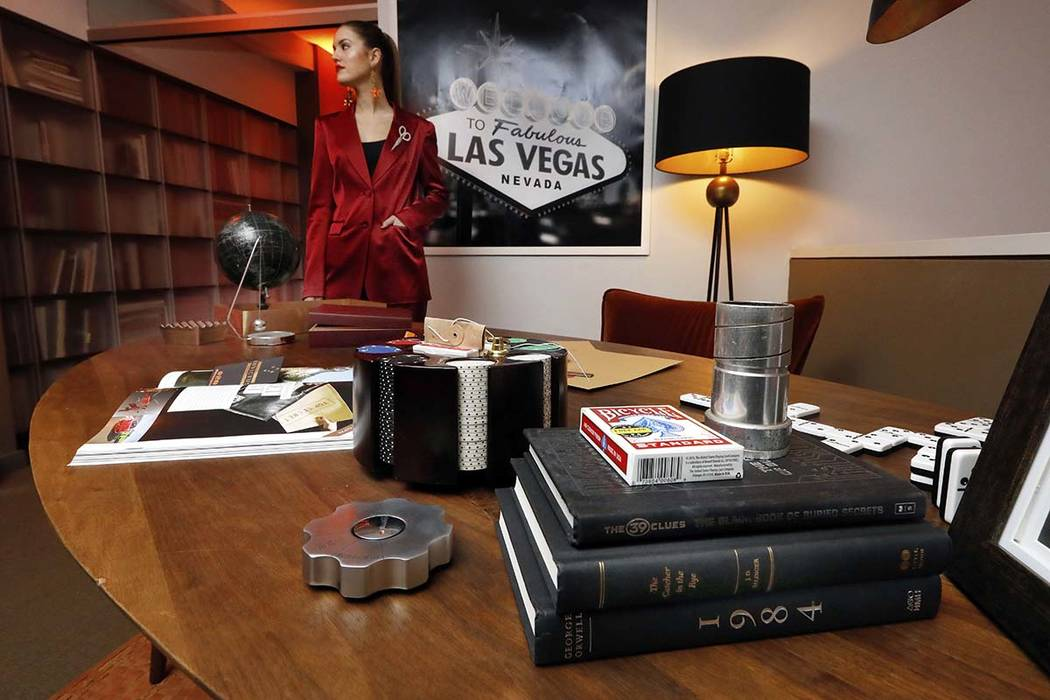 A display highlighting the Secret Agent experience appears during a preview of the Neiman Marcus Christmas Book in New York, Thursday, Oct. 18, 2018. Fly to Las Vegas on a private jet for a three- ...