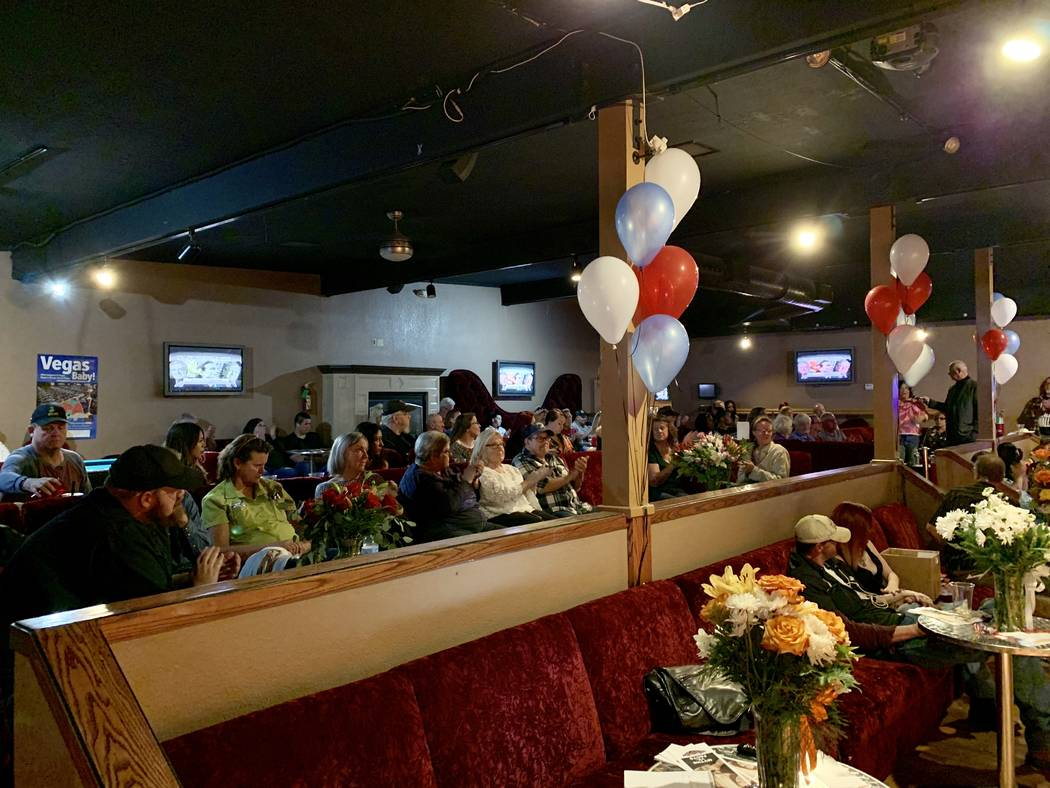 An audience of about 50 attended a Q&A Thursday night in Mound House, Lyon County, regarding a ballot measure to gauge support for banning legal prostitution in the county. (Bill Dentzer/Las Vegas ...