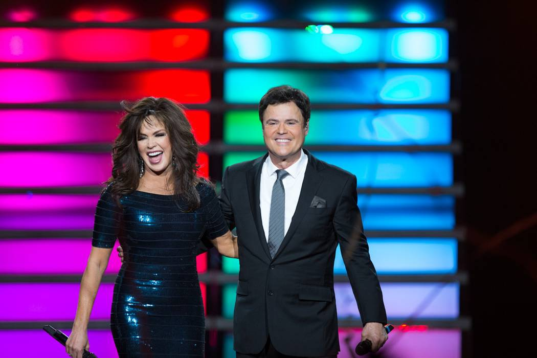 Marie Osmond and Donny Osmond perform in their Las Vegas show at the Flamingo Casino. The show has run for nearly 10 years.