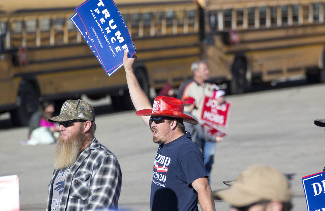 Supporters arrive for a Make America Great Again Rally in Elko, Nevada on Saturday, Oct. 20, 2018. Richard Brian Las Vegas Review-Journal @vegasphotograph