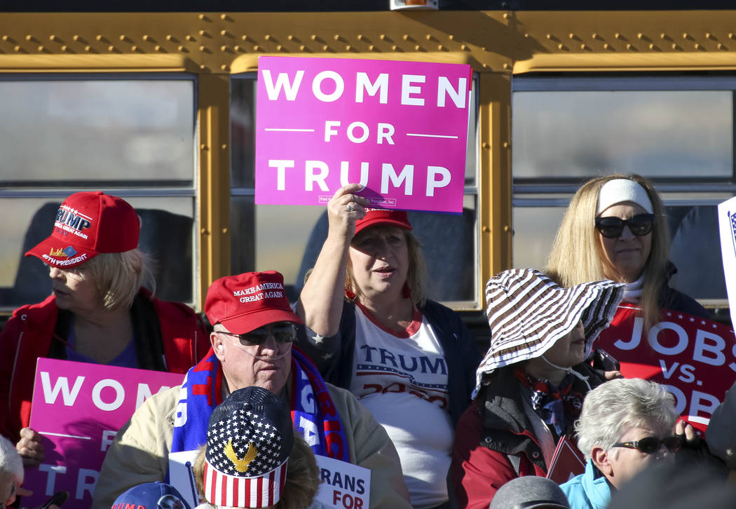 Donald Trump supporters attend a Make America Great Again Rally in Elko, Nevada on Saturday, Oct. 20, 2018. Richard Brian Las Vegas Review-Journal @vegasphotograph