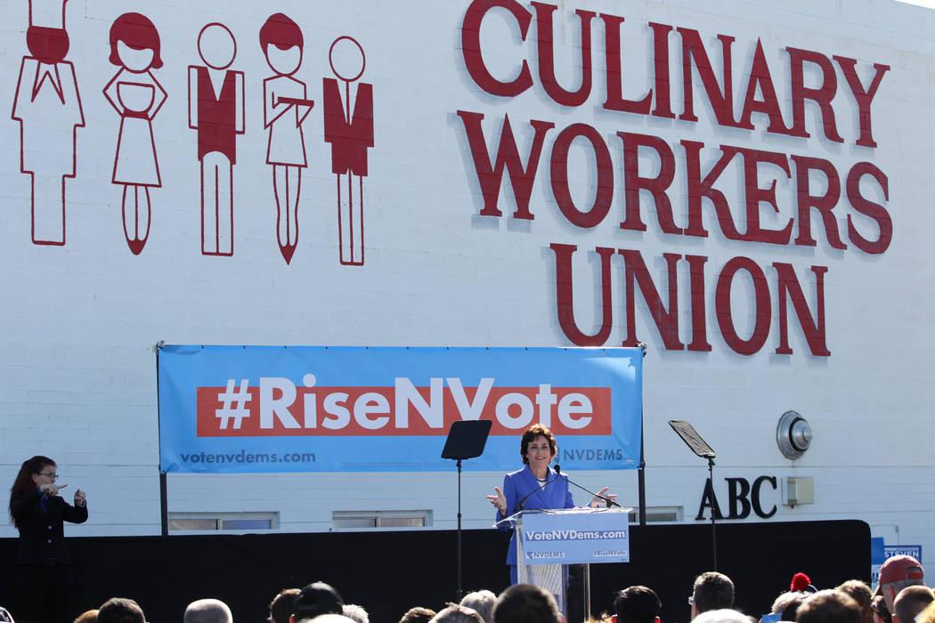at the Culinary Workers Union Local 226 headquarters in Las Vegas, Saturday, Oct. 20, 2018. Erik Verduzco Las Vegas Review-Journal @Erik_Verduzco