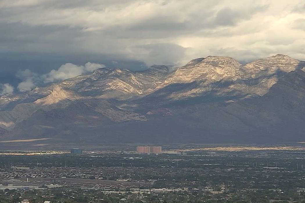 Clouds over the Spring Mountain range on Sunday, Oct. 21, 2018. (Las Vegas Review-Journal)