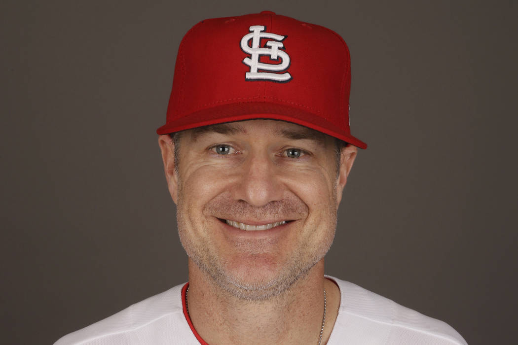 David Bell, shown here with the St. Louis Cardinals in 2017, has been hired as manager of the Cincinnati Reds, tasked with helping turn around a team that skidded to a 67-95 record and last-place ...