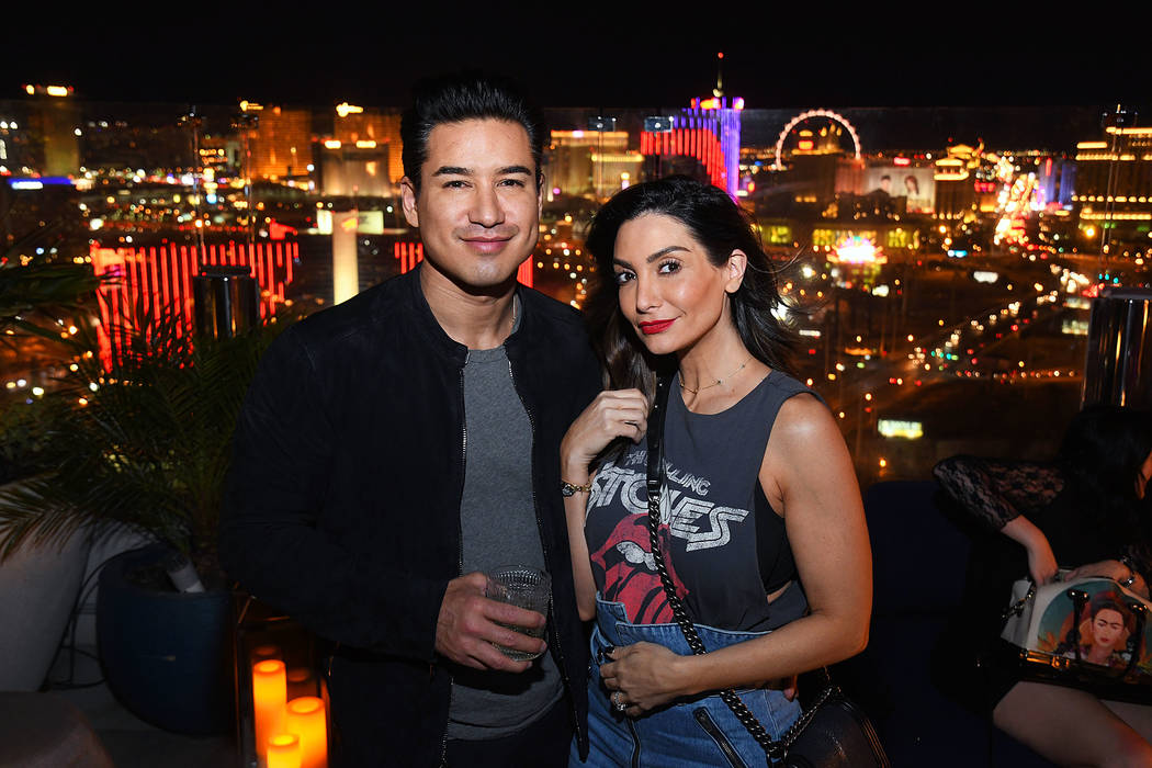 Mario Lopez and wife Courtney Lopez hosted a joint birthday celebration at Apex Social Club at the Palms on Oct. 19, 2018. (Michael Simon/startraksphoto.com)