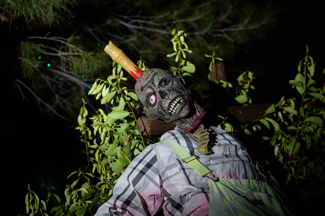 Opportunity Village's Magical Forest is decorated with various Halloween themed items for their HallOVeen event in Las Vegas, Sunday, Oct. 21, 2018. Caroline Brehman/Las Vegas Review-Journal