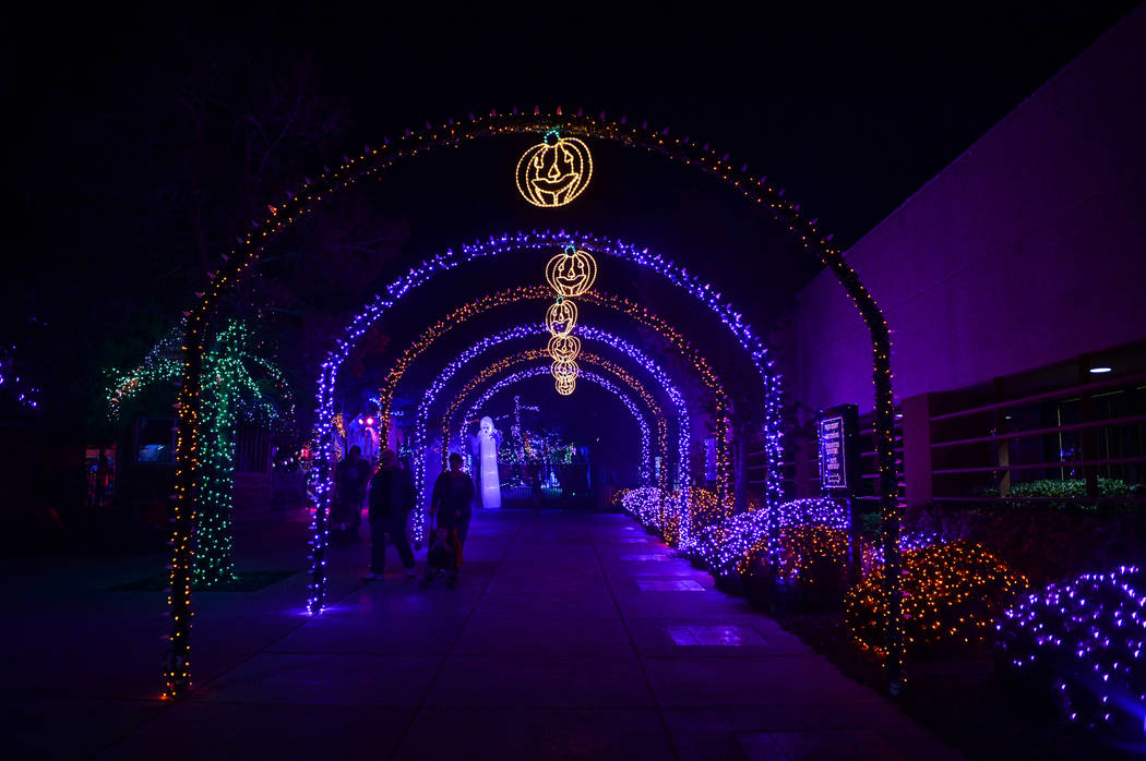 Opportunity Village's Magical Forest is decorated with various Halloween themed items and lights for their HallOVeen event in Las Vegas, Sunday, Oct. 21, 2018. Caroline Brehman/Las Vegas Review-Jo ...