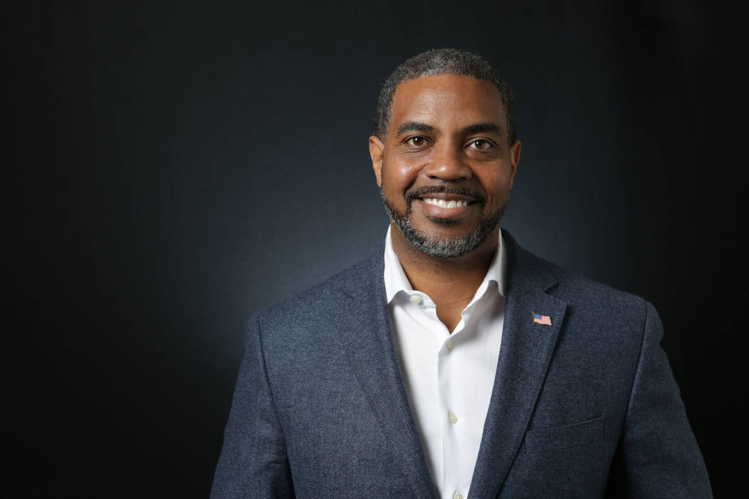 Steven Horsford, Democratic candidate for the 4th Congressional District, is photographed at the Las Vegas Review-Journal offices on Tuesday, April 24, 2018. Michael Quine/Las Vegas Review-Journal ...