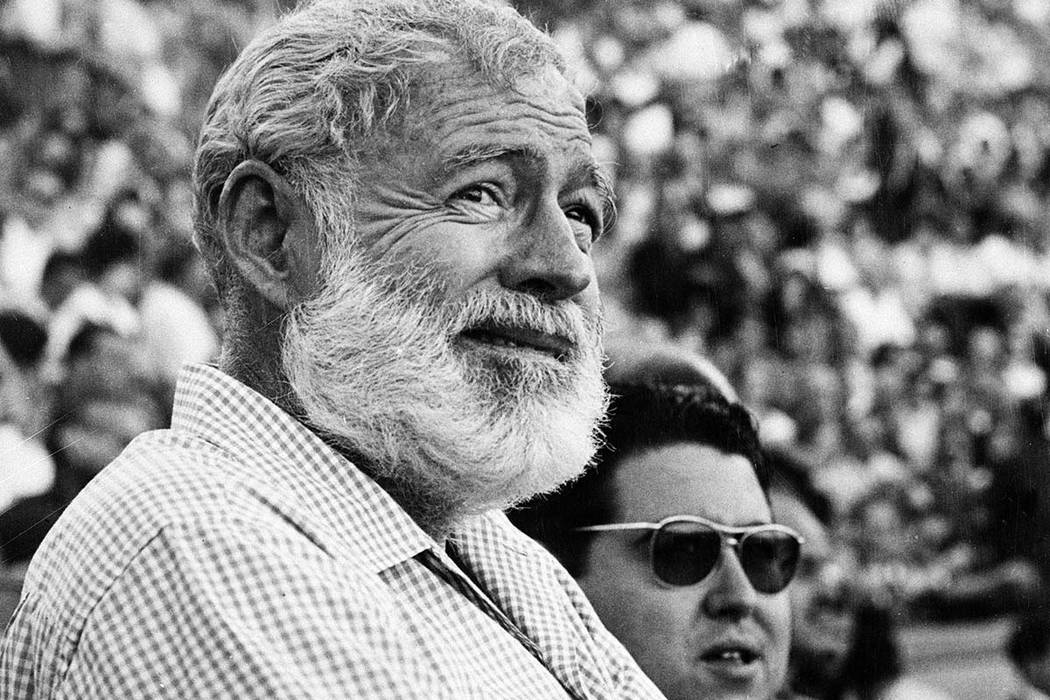 In this Nov. 1960 file photo, Ernest Hemingway attends a bullfight in Madrid, Spain. (AP Photo/File)