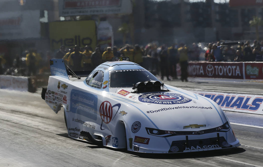 Funny Car Driver Robert Hight Competes During The First Day Of Qualifying  For The NHRA Toyota