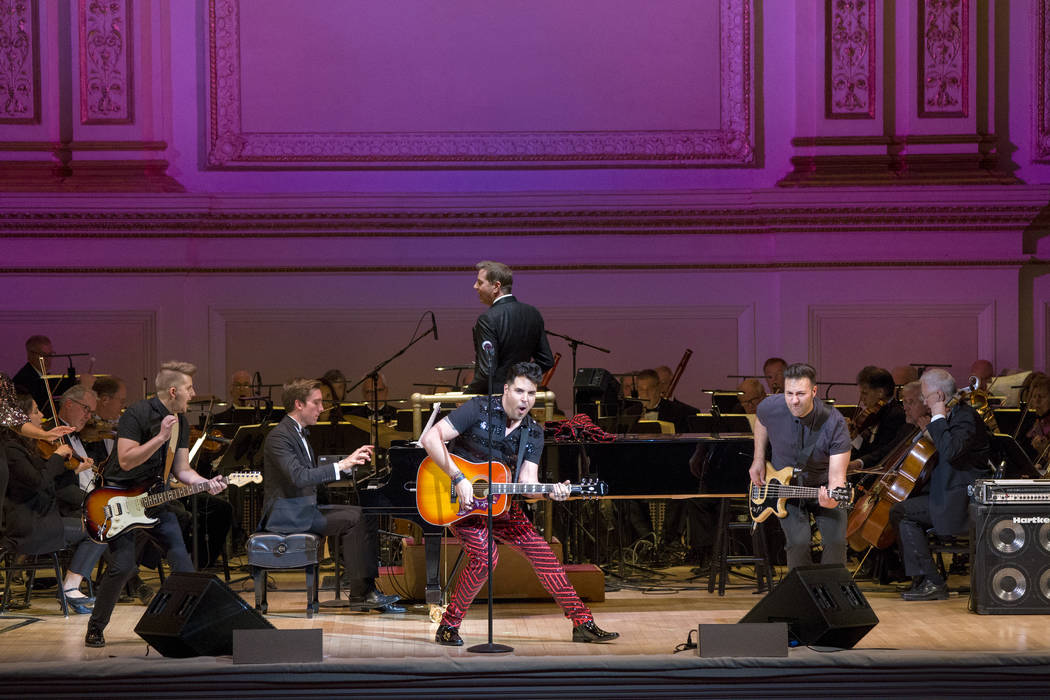 "Photo: ""Roll Over Beethoven: A Different Kind of Orchestra"" The New York Pops Steven Reineke, Music Director and Conductor Frankie Moreno, Guest Artist; concert photographed: Friday, Oc ..."